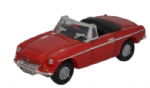Oxford  Dicast NMGB001 MGB Roadster Tartan Red